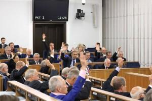Głosowanie. Fotografia Senatu RP